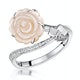 Stellato Collection Shell and Diamond Ring 0.05ct in 9K White Gold - image 1