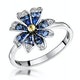 Blue Sapphire Yellow Sapphire and Diamond Stellato Ring 9K White Gold - image 1