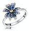 Blue Sapphire Yellow Sapphire and Diamond Stellato Ring 9K White Gold - image 1