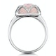 Stellato Collection Rose Quartz and Diamond Ring 9K White Gold - image 3