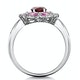 Garnet Pink Sapphire and Diamond Stellato Ring 0.14ct in 9K White Gold - image 3