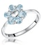 Stellato Collection Blue Topaz Ring in 9K White Gold - image 1