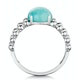 Stellato Collection Amazonite and Diamond Ring in 9K White Gold - image 3