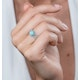Stellato Collection Amazonite and Diamond Ring in 9K White Gold - image 2