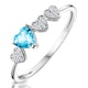 0.39ct Swiss Blue Topaz and Stellato Diamond Ring in 9K White Gold - image 1