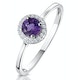 0.37ct Amethyst and Diamond Stellato Ring in 9K White Gold - image 1