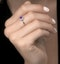0.37ct Amethyst and Diamond Stellato Ring in 9K White Gold - image 2