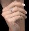 0.37ct Aquamarine and Diamond Stellato Ring in 9K White Gold - image 2