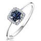 0.15ct Sapphire and Diamond Stellato Ring in 9K White Gold - image 1