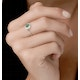 0.16ct Emerald and Diamond Ring in 9K White Gold - Stellato Collection - image 2