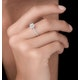 Masami Diamond Halo Engagement Ring 0.25ct Pave Set in 9K White Gold - image 2