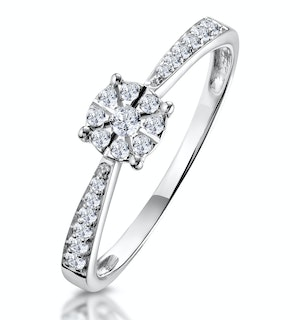 Masami Diamond Engagement Ring 0.20ct Pave Set in 9K White Gold