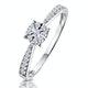 Masami Diamond Engagement Ring 0.20ct Pave Set in 9K White Gold - image 1