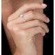 Masami Diamond Engagement Ring 0.20ct Pave Set in 9K White Gold - image 2