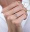 Diamond Stellato Star Ring with Diamond Shoulders in 9K White Gold - image 3