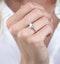 Stellato Diamond Butterfly Ring in 9K White Gold - image 3