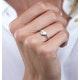Stellato Diamond Pave Heart Ring in 9K White Gold - image 3