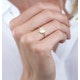 Stellato Collection Diamond Pave Heart Ring in 9K Gold - image 3