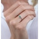 Emerald and Diamond Stellato Heart Ring in 9K White Gold - image 3