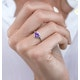 Halo Amethyst and Diamond Stellato Heart Ring in 9K White Gold - image 3