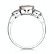 Halo 1.26ct Citrine and Diamond Stellato Ring in 9K White Gold - image 2