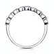 Stellato Sapphire and Diamond Eternity Ring in 9K White Gold - image 2