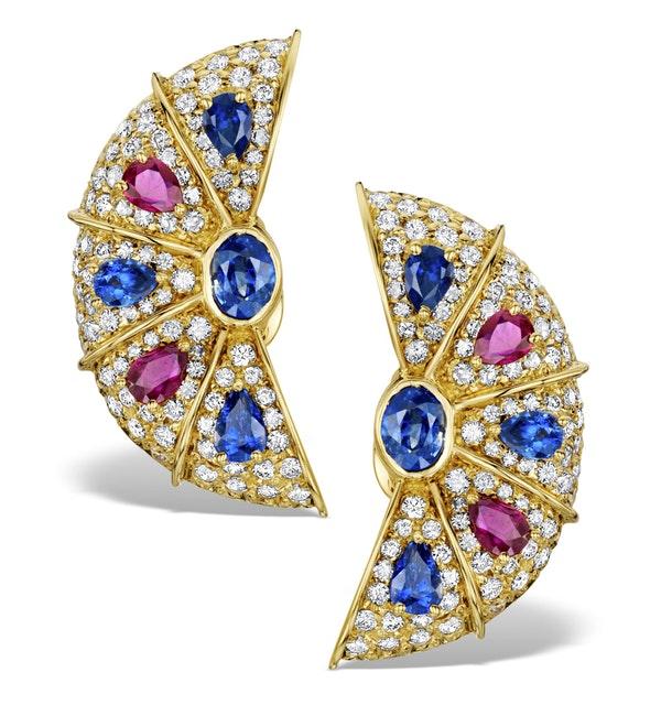 Diamond 4ct 18K Gold Earrings - RTC-EG227 - image 1