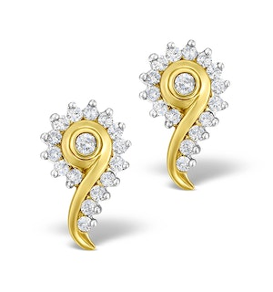 Diamond 0.40ct 9K Gold Earrings - RTC-EG232