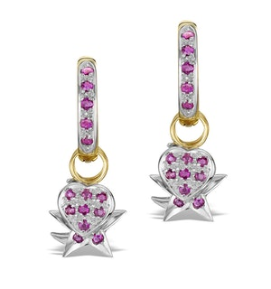 Ruby 2.50ct and 18K Gold Earrings - RTC-EG242
