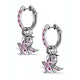 Ruby 2.50ct and 18K White Gold Earrings - RTC-EG242Y - image 2
