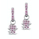 Ruby 2.50ct and 18K White Gold Earrings - RTC-EG242Y - image 1
