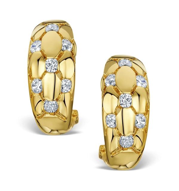 Diamond 0.50ct 18K Gold Earrings - RTC-EG265 - image 1
