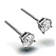 Diamond Earrings 1.00CT Studs Premium Quality in 18K White Gold 5.1mm - image 2
