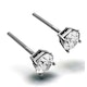 Diamond Earrings 1.00CT Studs H/SI Quality in Platinum - 5.1mm - image 2