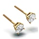 Diamond Stud Earrings 5.1mm 18K Gold - 1CT - G-H/SI - image 2