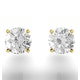 Diamond Stud Earrings 5.1mm 18K Gold - 1CT - Premium - image 4