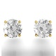 Diamond Stud Earrings 5.1mm 18K Gold - 1CT - G-H/SI - image 4