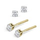 Diamond Stud Earrings 3mm 18K Gold - 0.20CT - G-H/SI - image 2