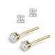 Diamond Stud Earrings 3mm 18K Gold - 0.20CT - Premium - image 2
