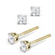 Diamond Stud Earrings 3.4mm 18K Gold - 0.30CT - G-H/SI - image 2