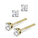 Diamond Stud Earrings 3.4mm 18K Gold - 0.30CT - Premium - image 2
