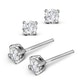 Diamond Earrings 0.40CT Studs Premium Quality in 18K White Gold 3.8mm - image 2