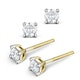 Diamond Stud Earrings 3.8mm 18K Gold - 0.40CT - G-H/SI - image 2