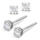 Lab Diamond Stud Earrings 0.50CT G/VS1 Quality 18K White Gold - 4.1mm - image 2