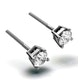 Diamond Earrings 0.66CT Studs Premium Quality 18K White Gold - 4.5mm - image 2