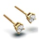 Diamond Stud Earrings 4.5mm 18K Gold - 0.66CT - G-H/SI - image 2