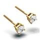 Diamond Stud Earrings 4.5mm 18K Gold - 0.66CT - Premium - image 2