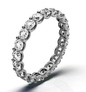 Mens 3ct H/Si Diamond Platinum Full Band Ring