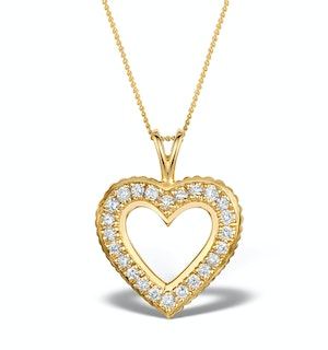 0.38ct Diamond Heart Necklace in 14K Gold