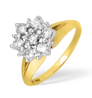 9K Gold Diamond Pave Detail Crossover Ring 0.52ct